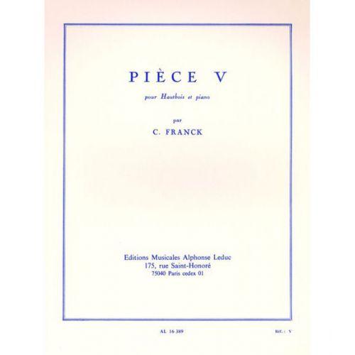 LEDUC FRANCK CESAR - PIECE V - HAUTBOIS & PIANO