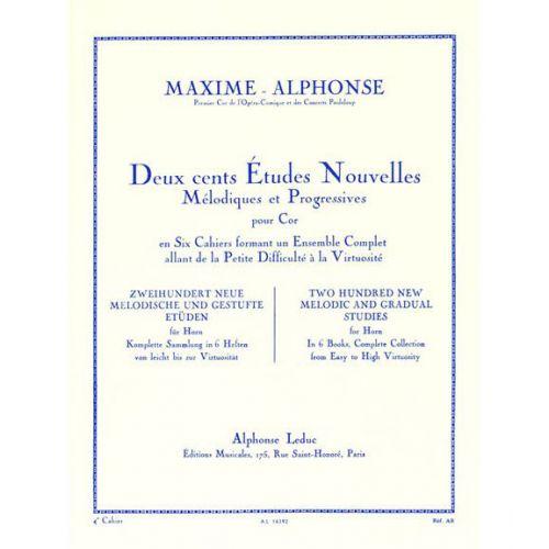 LEDUC MAXIME-ALPHONSE - 200 ETUDES NOUVELLES VOL.4 - COR