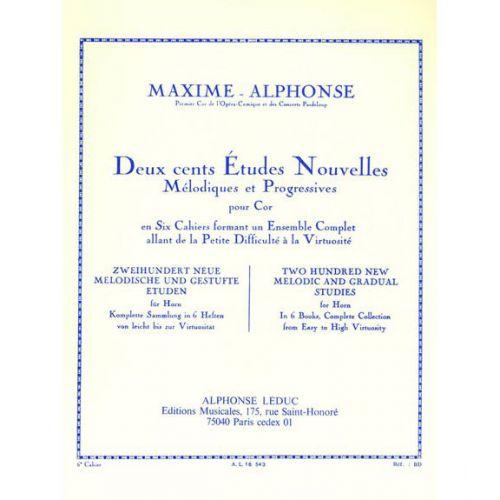 LEDUC MAXIME-ALPHONSE - 200 ETUDES NOUVELLES VOL.6 : 10 GRANDES ETUDES NOUVELLES VIRTUOSITE - COR
