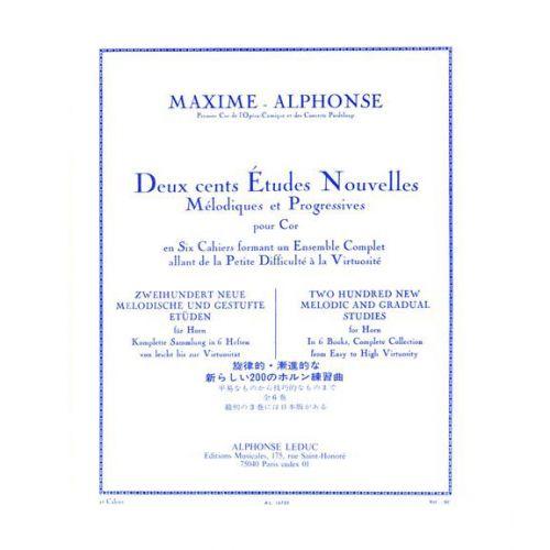 LEDUC MAXIME-ALPHONSE - 200 ETUDES NOUVELLES VOL.2 - COR