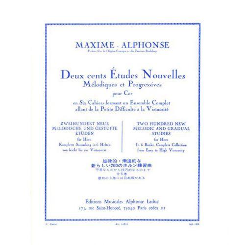LEDUC MAXIME-ALPHONSE - 200 ETUDES VOL.3 - COR