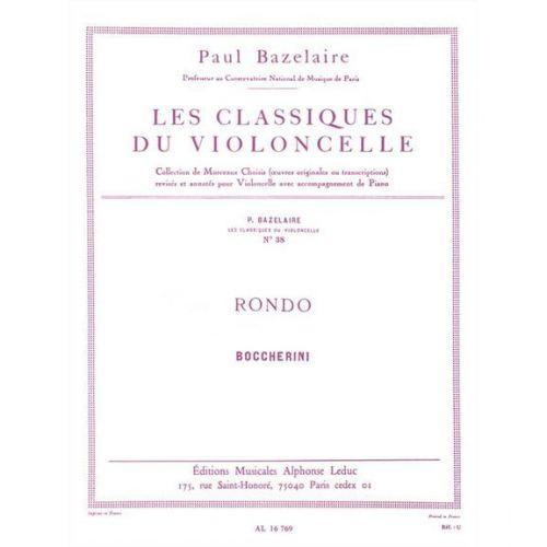 LEDUC BOCCHERINI L. (ARR. BAZELAIRE) - RONDO - VIOLONCELLE ET PIANO
