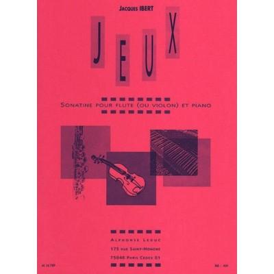 LEDUC IBERT JACQUES - JEUX, SONATINE POUR FLUTE & PIANO