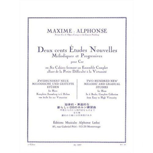 LEDUC MAXIME-ALPHONSE - 200 ETUDES NOUVELLES VOL.1 - COR