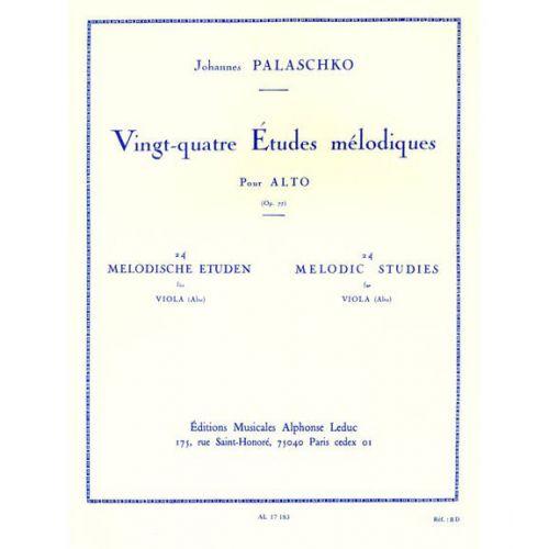LEDUC PALASCHKO - 24 ETUDES MELODIQUES - ALTO