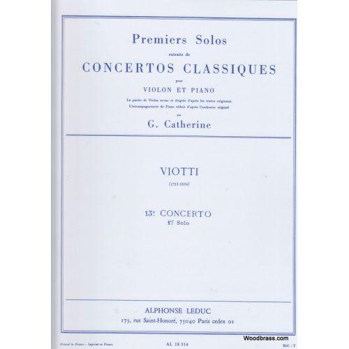 LEDUC CATHERINE / VIOTTI - PREMIERS SOLOS CONCERTOS CLASSIQUES:N013 - VIOLON ET PIANO