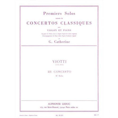 LEDUC VIOTTI - SOLO DE CONCERT N° 23 - VIOLON,PIANO