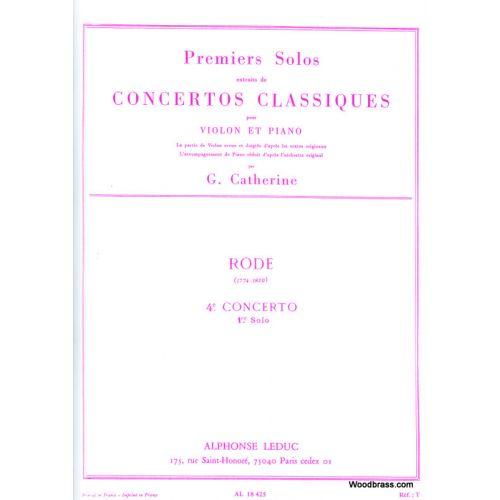 LEDUC RODE PIERRE - SOLO N°1 DU CONCERTO N°4 (CATHERINE)