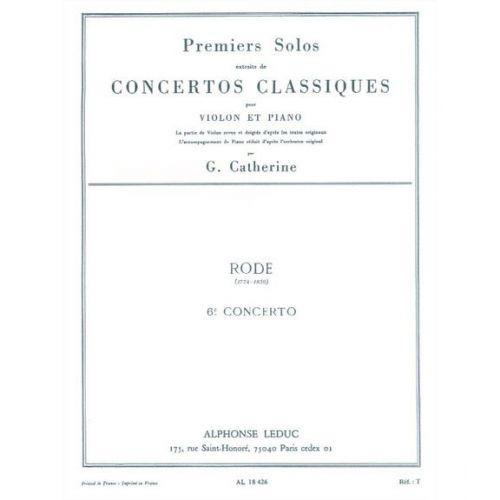 LEDUC RODE PIERRE - SOLO N°1 DU CONCERTO N°6 (CATHERINE) - VIOLON ET PIANO