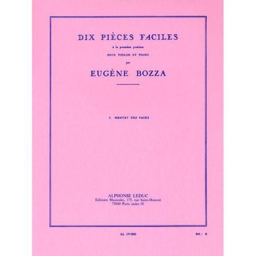 LEDUC BOZZA EUGENE - MENUET DES PAGES - VIOLON