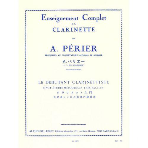 LEDUC PERIER A. - LE DEBUTANT CLARINETTISTE