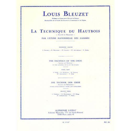 LEDUC BLEUZET L. - TECHNIQUE DU HAUTBOIS PAR L'ETUDE RATIONELLE DES GAMMES VOLUME 1