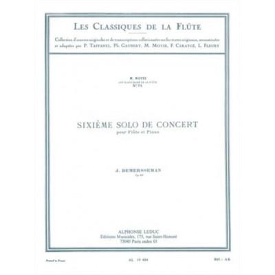 LEDUC DEMERSSEMAN J. - SIXIEME SOLO DE CONCERT OP.82 - FLUTE