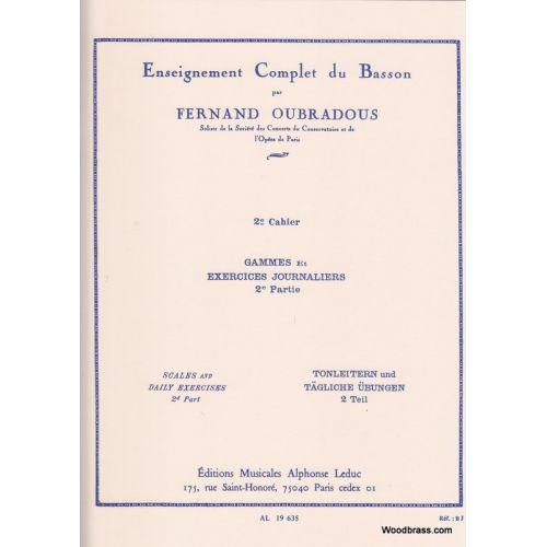 LEDUC OUBRADOUS - ENSEIGNEMENT COMPLET DU BASSON VOL.2