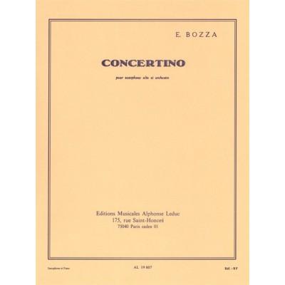 LEDUC BOZZA EUGENE - CONCERTINO - SAXOPHONE ALTO & PIANO