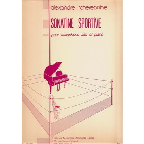 LEDUC TCHEREPINE A. - SONATINE SPORTIVE - SAXOPHONE,PIANO