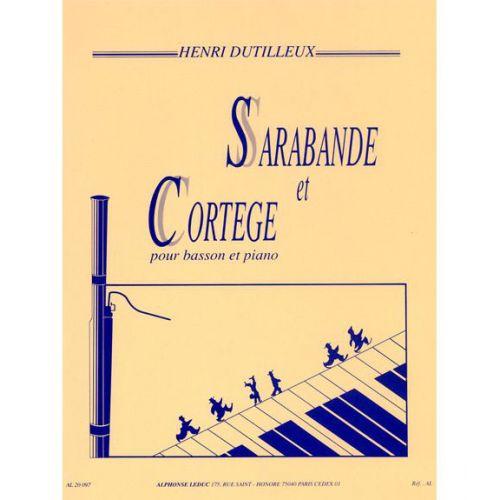 LEDUC DUTILLEUX H. - SARABANDE ET CORTEGE - BASSON ET PIANO