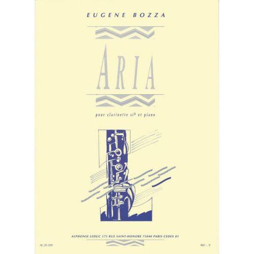 LEDUC BOZZA E. - ARIA - CLARINETTE SIb ET PIANO