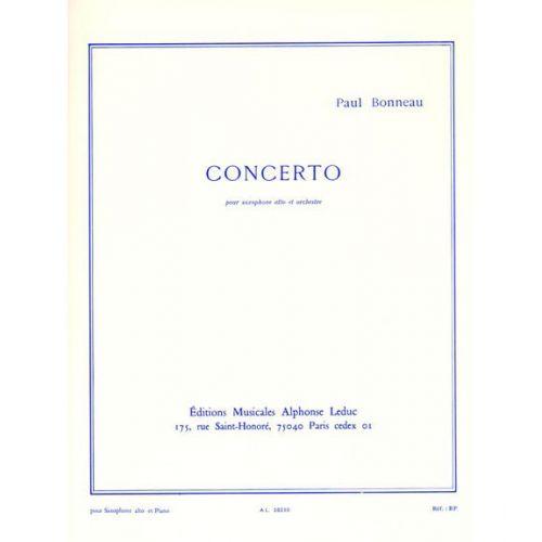 LEDUC BONNEAU PAUL - CONCERTO - SAXOPHONE & PIANO