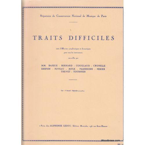 LEDUC TRAITS DIFFICILES - COR - 1ER RECUEIL (FASCICULES 1.2.3.4 REUNIS)