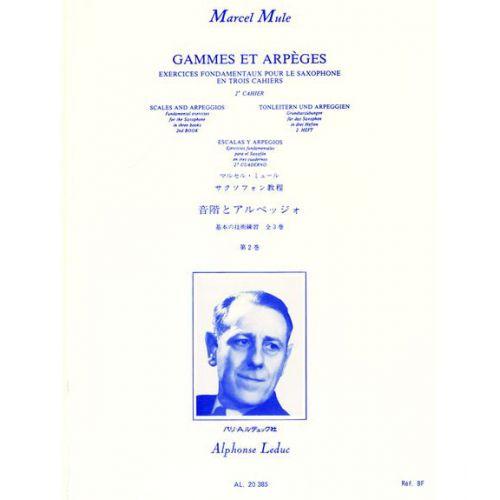 LEDUC MULE M. - GAMMES ET ARPEGES VOL.2 - SAXOPHONE