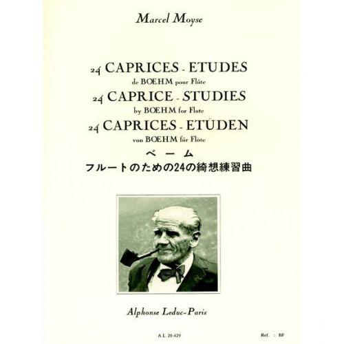 LEDUC MOYSE M. - 24 CAPRICES-ETUDES DE BOEHM - FLUTE