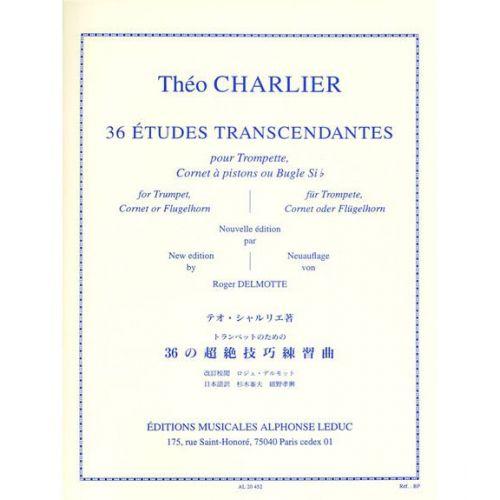 LEDUC CHARLIER THEO - 36 ETUDES TRANSCENDANTES POUR TROMPETTE