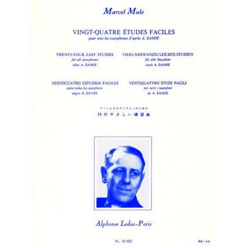 LEDUC MULE M. - 24 ETUDES FACILES D'APRES SAMIE - SAXOPHONE