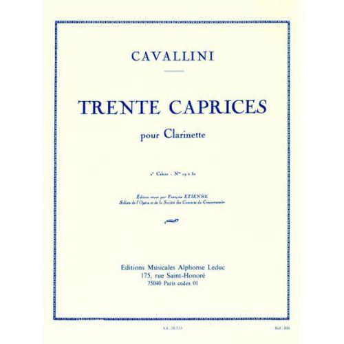 LEDUC CAVALLINI - 30 CAPRICES VOL.2 - CLARINETTE