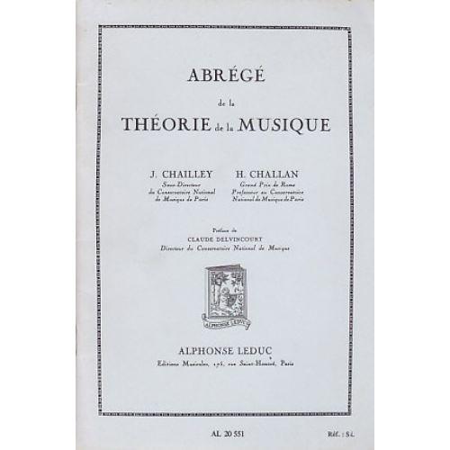 LEDUC CHAILLEY / CHALLAN - ABREGE DE LA THEORIE