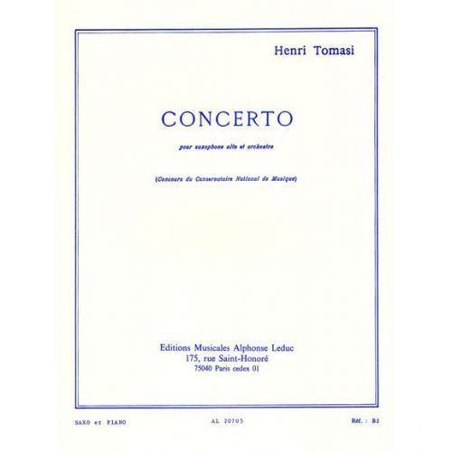 LEDUC TOMASI HENRI - CONCERTO POUR SAXOPHONE ALTO ET ORCHESTRE