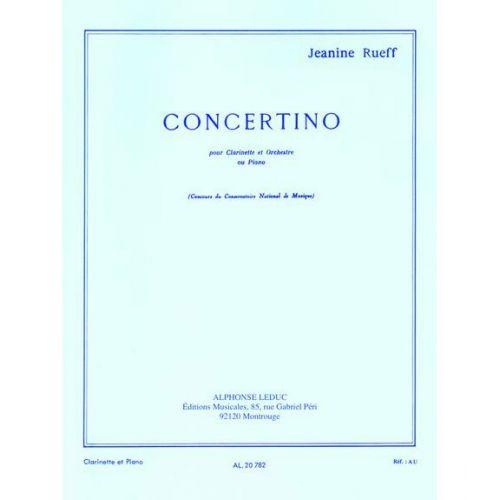 LEDUC RUEFF J. - CONCERTINO OP.15 - CLARINETTE ET PIANO