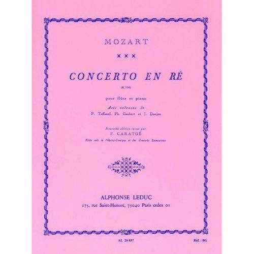 LEDUC MOZART WOLFGANG AMADEUS - CONCERTO EN RE - FLUTE ET PIANO
