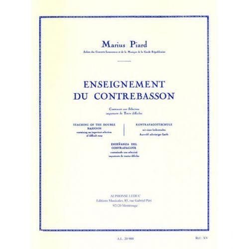 LEDUC PIARD M. - ENSEIGNEMENT DU CONTREBASSON