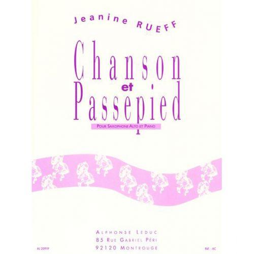 LEDUC RUEFF JEANINE - CHANSON ET PASSEPIED OP.16 - SAXOPHONE ALTO ET PIANO