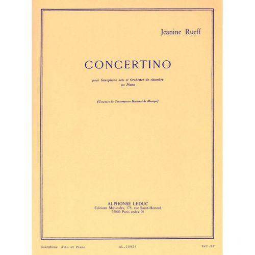 LEDUC RUEFF J. - CONCERTINO OP.17 - SAXOPHONE ET PIANO