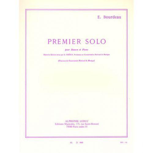 LEDUC BOURDEAU - SOLO N° 1 - BASSON ET PIANO