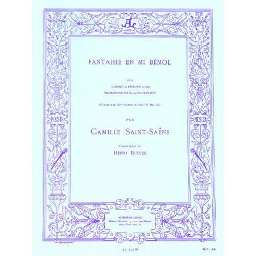 LEDUC SAINT-SAENS CAMILLE - FANTAISIE EN MIB - TROMPETTE & PIANO