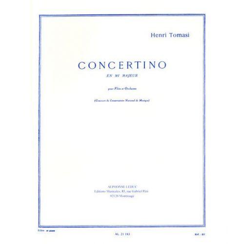 LEDUC TOMASI HENRI - CONCERTINO EN MI MAJEUR - FLUTE & PIANO
