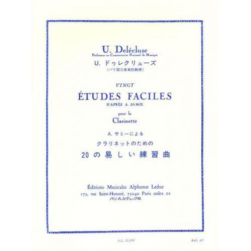 LEDUC DELECLUSE U. - VINGT ETUDES FACILES D'APRES A. SAMIE - CLARINETTE