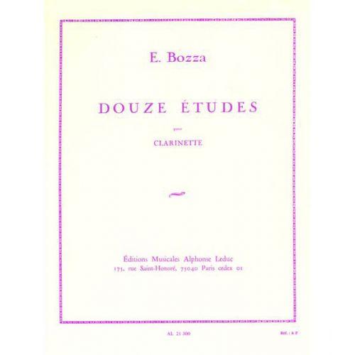 LEDUC BOZZA EUGENE - DOUZE ETUDES POUR CLARINETTE