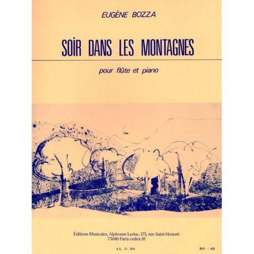 LEDUC BOZZA EUGENE - SOIR DANS LES MONTAGNES - FLUTE & PIANO