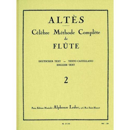 LEDUC ALTES - METHODE DE FLUTE TRAVERSIERE VOL. 2