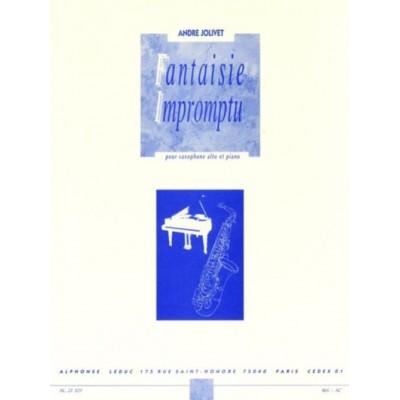 LEDUC JOLIVET A. - FANTAISIE IMPROMPTU - SAXOPHONE MIB ET PIANO