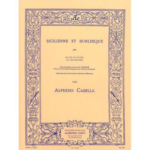 LEDUC CASELLA ALFREDO - SICILIENNE ET BURLESQUE - FLUTE & PIANO