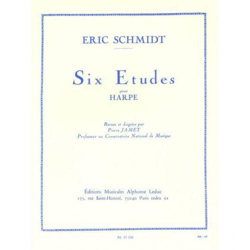 LEDUC SCHMIDT ERIC - SIX ETUDES POUR HARPE