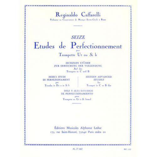 LEDUC CAFFARELLI - 16 ETUDES DE PERFECTIONNEMENT pour trompette ut ou si b