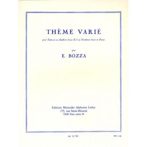 LEDUC BOZZA E. - THEME VARIE - TUBA & PIANO