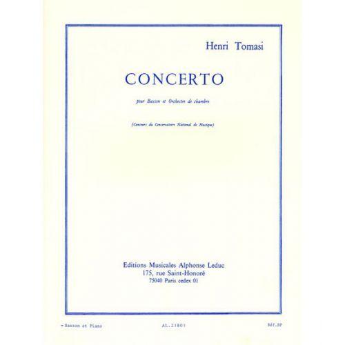 LEDUC TOMASI H. - CONCERTO(BASSON ORCHESTRE) -BASSON ET PIANO