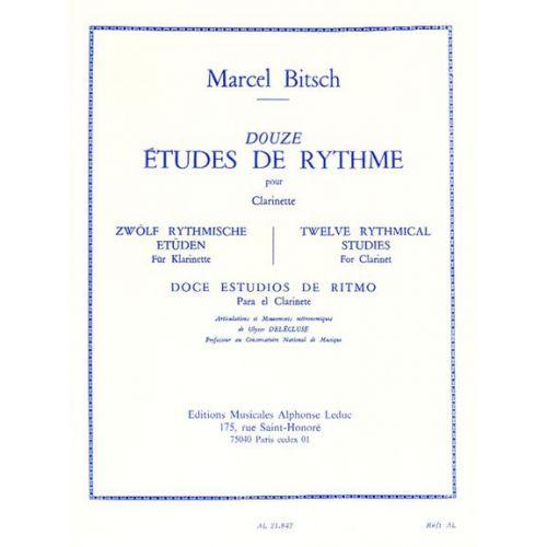 LEDUC BITSCH M. - 12 ETUDES DE RYTHME - CLARINETTE